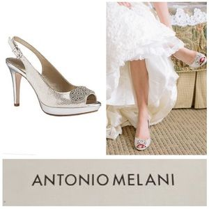 GORGEOUS!  Antonio Melani Sierra jeweled pumps 6
